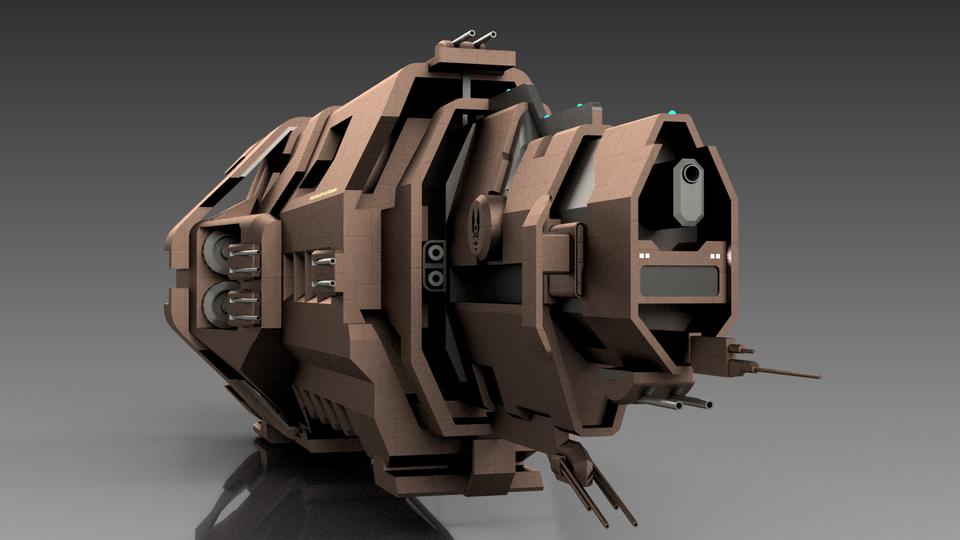 Pillar of Autumn: Halo Reach   3D CAD Model Library   GrabCAD