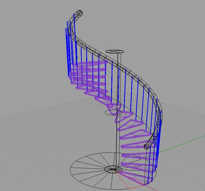 spiral staircase   3D CAD Model Library   GrabCAD