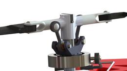 Pitch rotor mechanism on brushless motor.