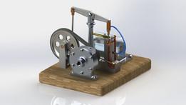 Small size Steam Engine (Educational Purposes) محرك بخاري صغير الحجم للأعمال التعليمية