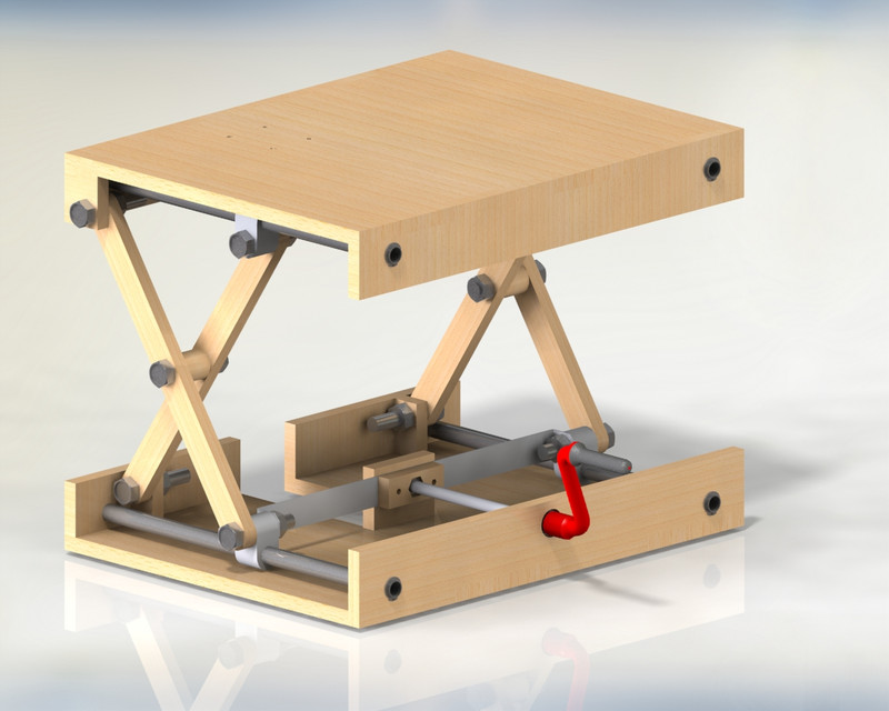 Scissor Lifting Table | 3D CAD Model Library | GrabCAD