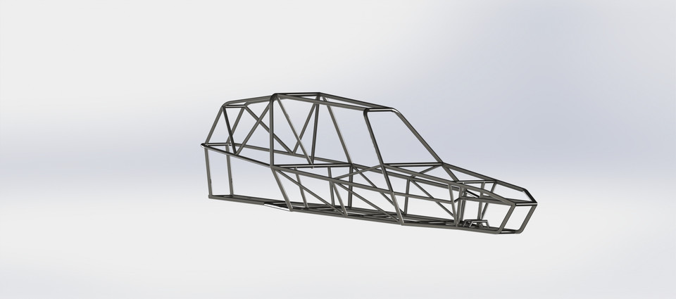 Off road buggy frame | 3D CAD Model Library | GrabCAD