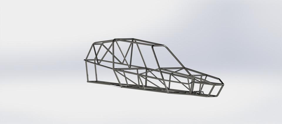 Off road buggy frame   3D CAD Model Library   GrabCAD