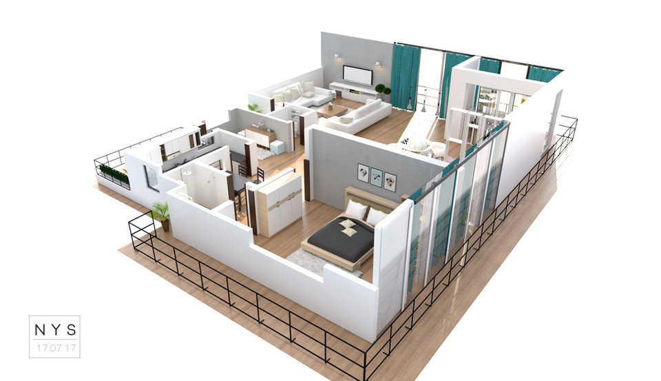 House Floor Plans Layout 3d Cad Model Library Grabcad