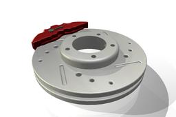 Brake Rotor and Caliper