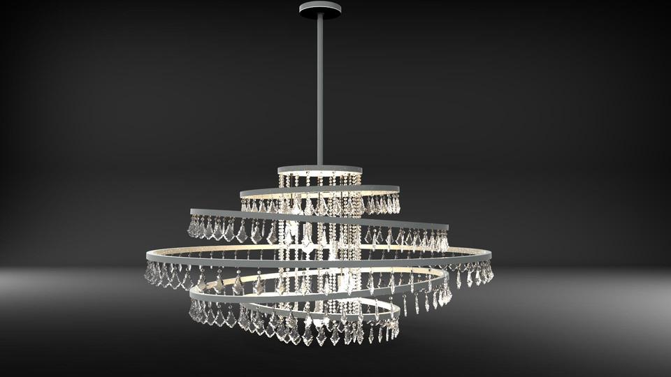 Crystal drops chandelier 3d cad model library grabcad aloadofball Gallery