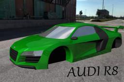 Audi R8 car body