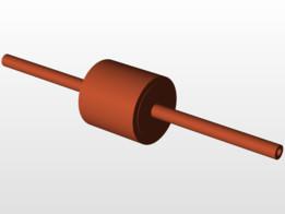 chasis de una bobina reductora para servo-motor