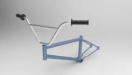 BMX Bicycle Body Frame with Handle