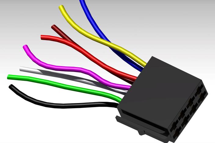 Car radio wiring harness catia d cad model grabcad
