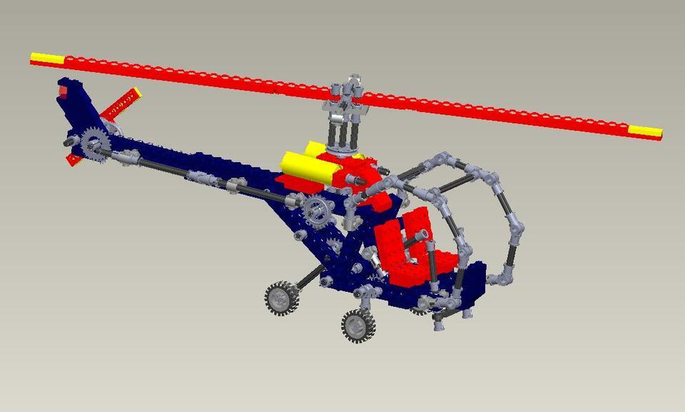 lego technic helicopter 8844 step iges 3d cad model grabcad. Black Bedroom Furniture Sets. Home Design Ideas