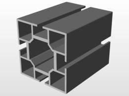 Octanorm M 1000 square aluminum extrusion, 40mm