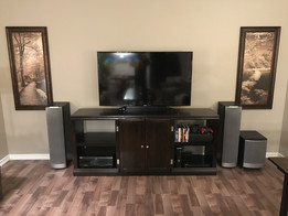 "Entertainment Center w/55"" LED TV"