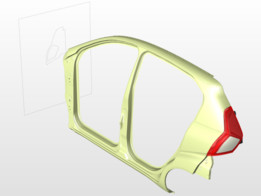 Lens Housing for Rear lamp with BIW