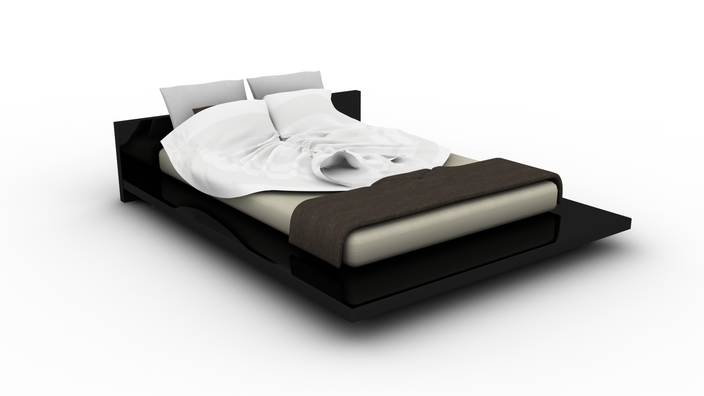 Modern bed - Autodesk 3ds Max, Other - 3D CAD model - GrabCAD