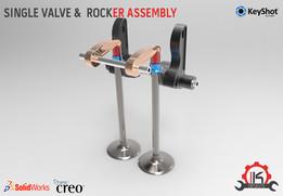 Motor Cycle Engine Internal Setup -  Desmodromic Valve System - Single Valve & Rocker Assembly