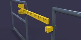 single bar safety gate