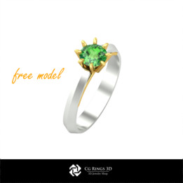 3D Rings Enagagement - Free 3D Model