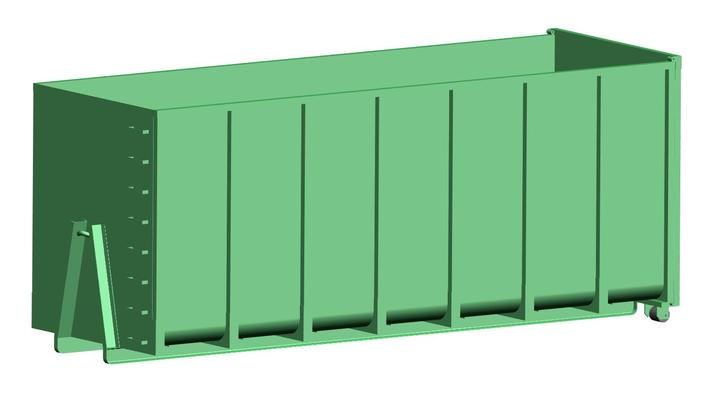 roll on roll off open top container 43 5 m3 step iges 3d cad model grabcad. Black Bedroom Furniture Sets. Home Design Ideas