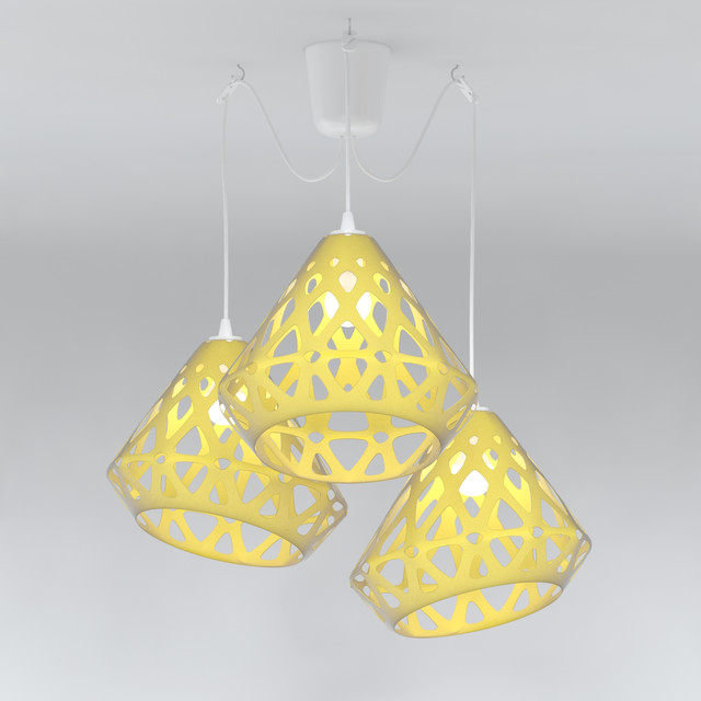 Chandelier ZAHA LIGHT | 3D CAD Model Library | GrabCAD