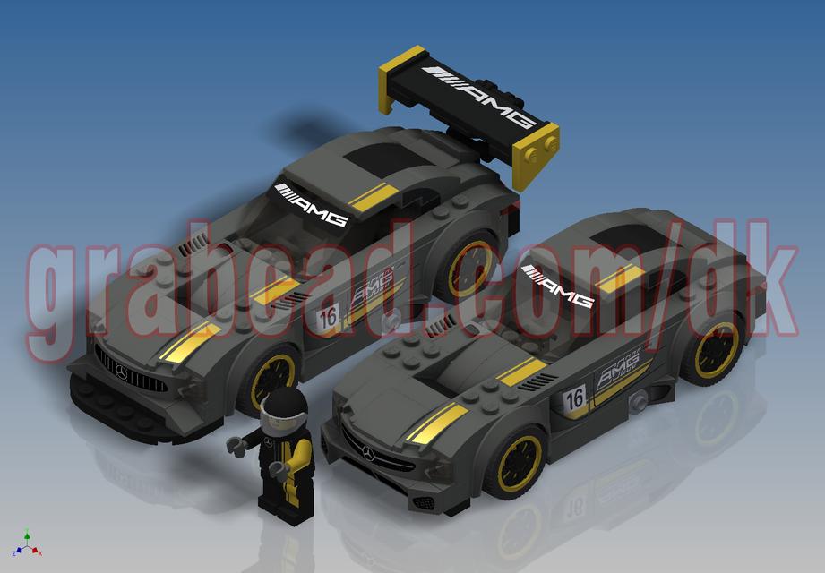 lego speed champions mercedes amg gt3 75877 3d cad. Black Bedroom Furniture Sets. Home Design Ideas