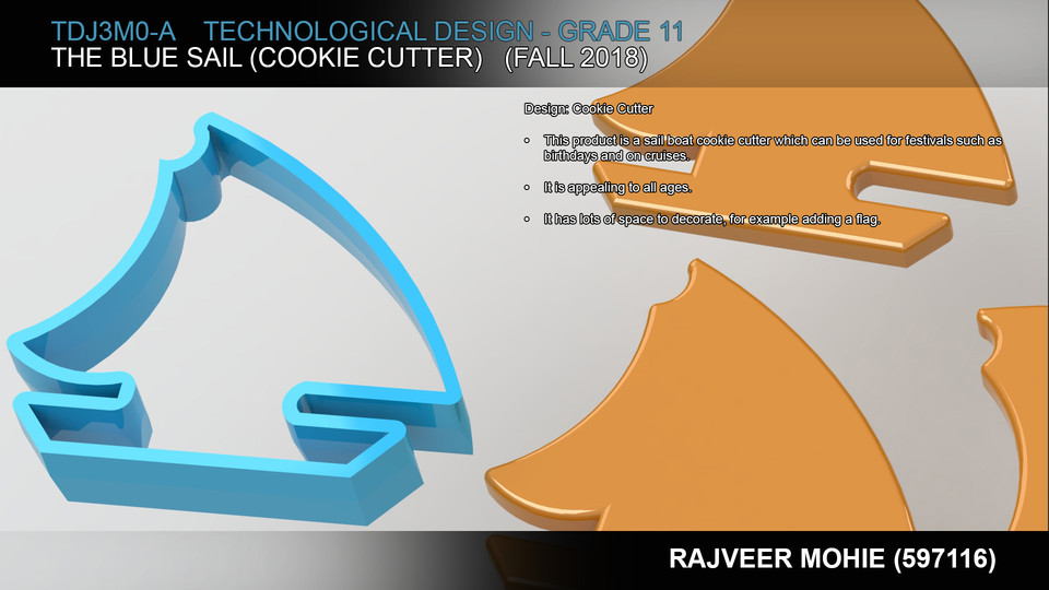 The Blue Sail (Cookie Cutter) | 3D CAD Model Library | GrabCAD