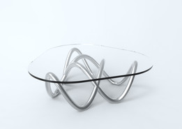 double frame TREFOIL KNOT coffee table