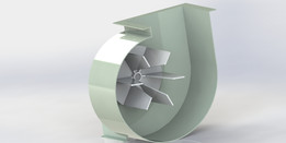 Centrifugal Fan with radial blades