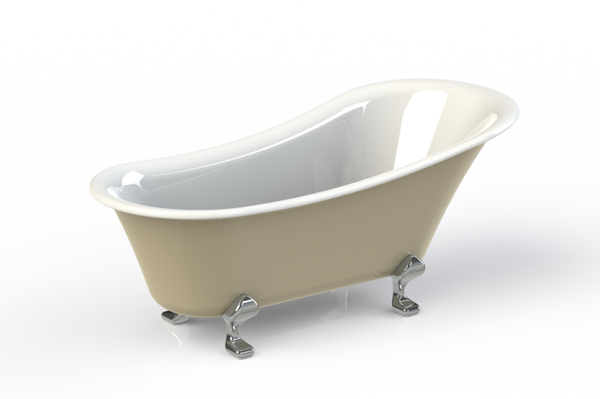 Clawfoot bathtub / Claw foot bath tub | 3D CAD Model Library | GrabCAD