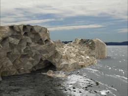 Polygonal cliff