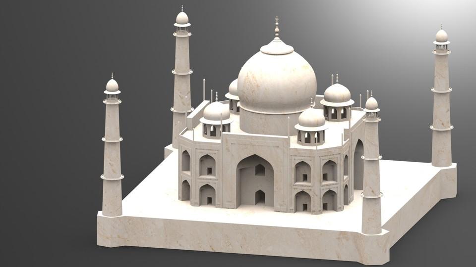 Taj mahal solidworks step iges stl 3d cad model for 3d model viewer