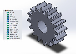 modifiable gear with equations