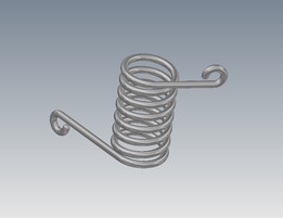 Torsion spring 120deg  Height 65mm