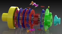 Marzouk SolidWorks - Multiple Leaf Friction Clutch - Free Tree Models & Tutorial