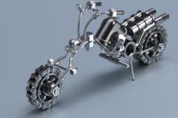 Metal Art Chopper bike