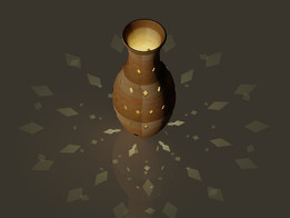 POT WITH LIGHT SHADOW