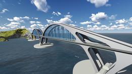 Pont arc 3D modeling