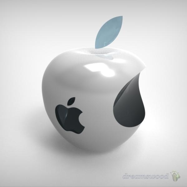 3d apple logo stl step iges solidworks 3d cad. Black Bedroom Furniture Sets. Home Design Ideas