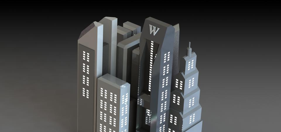 Gotham City | 3D CAD Model Library | GrabCAD