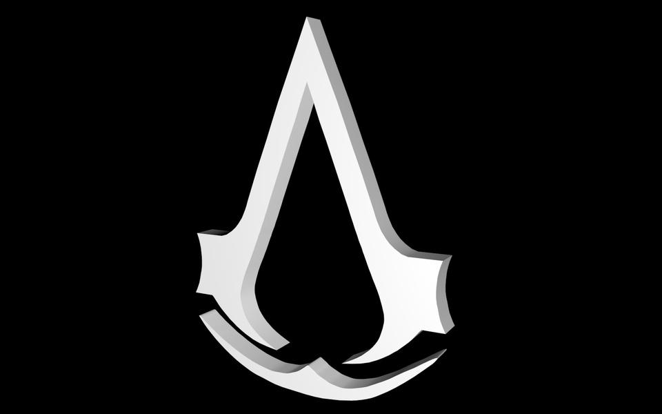 Assassins Creed Logo 3d Cad Model Library Grabcad