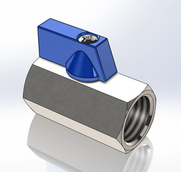 """2-way ball valve manual G1/2"""" stainless steel"""