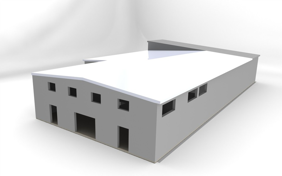 how to make a 3d model of a factory
