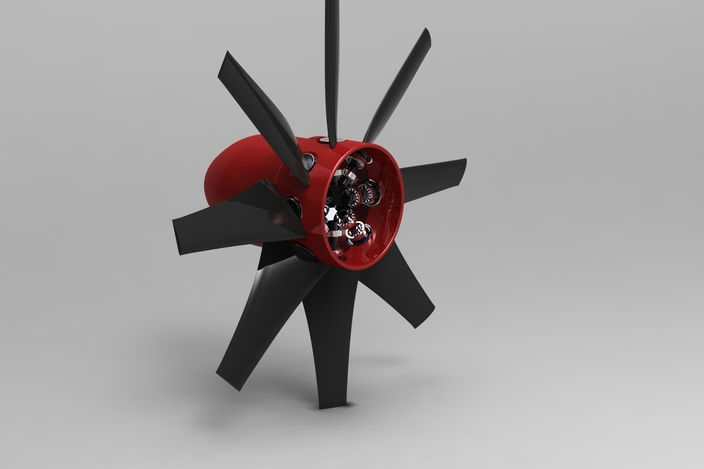 Variable Pitch Fan : Variable pitch reverse thrust propeller