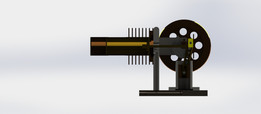 Horizontal Stirling Engine