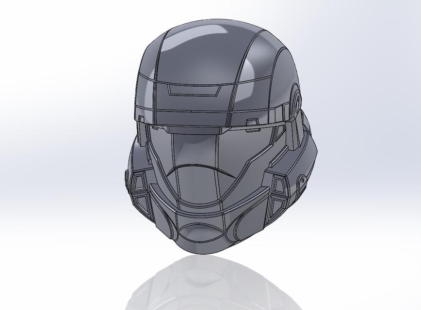 Halo ODST Helmet | 3D CAD Model Library | GrabCAD