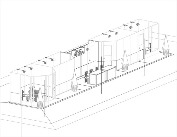 Booth cad drawing for Trade show poll booth
