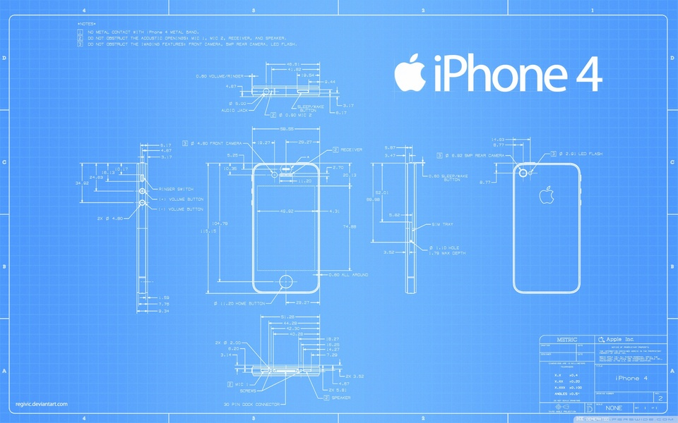 Iphone 4 concept blueprint 3d cad model library grabcad malvernweather Gallery