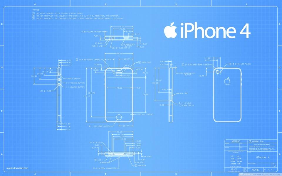 Iphone 4 concept blueprint 3d cad model library grabcad malvernweather Choice Image