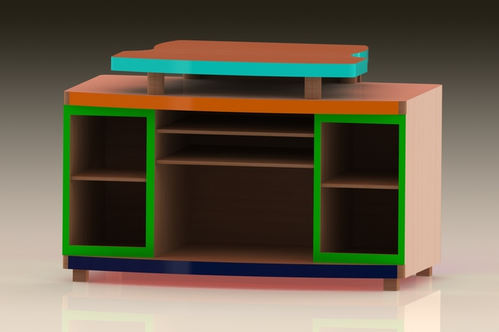 my tv table sol dworks 2014 solidworks 3d cad model grabcad. Black Bedroom Furniture Sets. Home Design Ideas