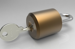 Padlock with internal mechanism
